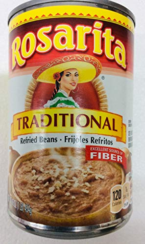 (Rosarita Traditional Mexican Style Refried Beans - Gluten Free - 16 Ounce (Pack of 2))