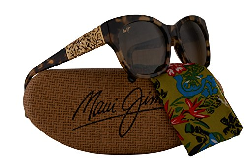 Maui Jim Monstera Leaf Sunglasses Honey Havana Yellow Gold Monstera w/Polarized Bronze Lens - Sand Jim Maui Island Sunglasses