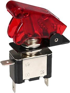 KKmoon Interruttore a levetta per Auto Verde Pulsante di accensione Interruttore di accensione del Motore a levetta Luce 12V 20A