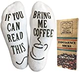 Luxury Cotton'Bring Me Coffee' Funny Socks - Perfect Mother's Day Gift...