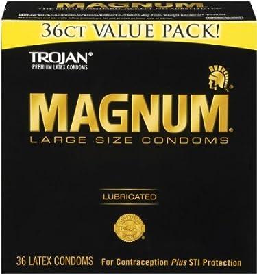 Trojan Condom Magnum Lubricated, 36 Count