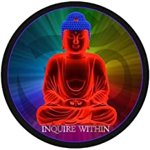 "ProSticker 2118 (One) 4"" Harmony Series Buddha ""Inquire Within"" Decal Sticker"