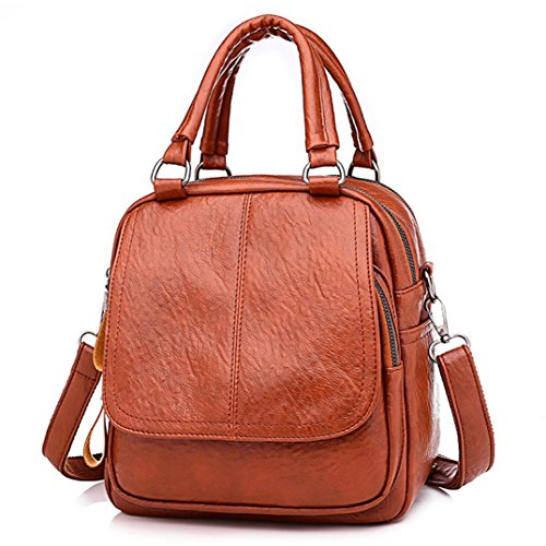 Women Girl Backpack,Realdo Fashion Versatile Solid Converted Handbag Satchel Daypack Tote