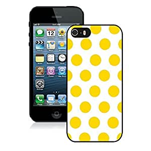 Graceful Speck Iphone 5s Black Silicone Case Iphone 5 Durable Covers Soft Rubber White and Yellow Dot