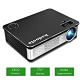 Kadoola Z720 Home Cinema Projector 1080P 3300 Lumens 1280x768 5.8'' LCD Video Projector for Movie Games Party Entertainment with Free HDMI Cable