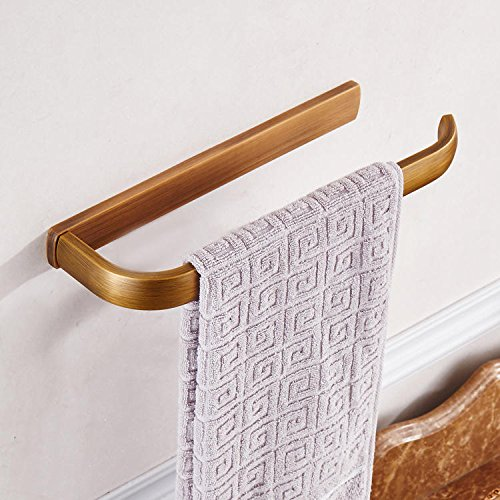 Bathroom Storage & Organisation Towel Racks - KC-BR544 Bronze Towel Rack Wall Mounted Towel Holder Rust Protection For Bathroom Accessories - 1 x KCASA KC-BR544 Towel Holder 1 x A Set Mounting by Unknown