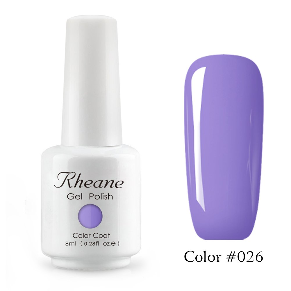 rheane Semi-Permanent Nail Polish 8ml Nail Art Soak Off LED UV Gel ...