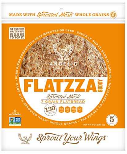 Angelic Bakehouse Sprouted Seven-Grain Flatzza Buddy Pack, 10 Ounce
