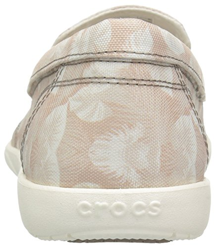 Crocs Womens Walu II Canvas Graphic W Boat Shoe Cobblestone/Tropical q7C2s34f