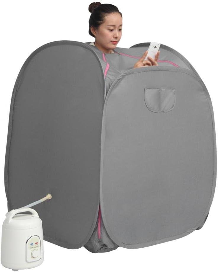 UK Plug 1.5L Sauna Steamer Portable Sauna Machine Home Personal Spa Indoor Body Slimming Therapy Portable Personal Home Steam Sauna