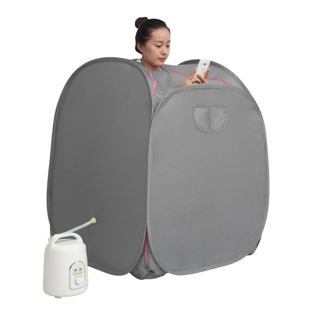 1.5L Sauna Steamer Portable Pot Home Personal Spa Body Heater Tent Detoxify Machine Indoor Body Slimming Therapy Fumigation(UK Plug) Zerodis