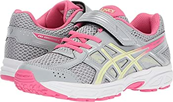 Asics Unisex-child Pre-contend 4 Ps Shoes, Size: 12 M Us Little Kid, Color Mid Greylimelighthot Pink 3