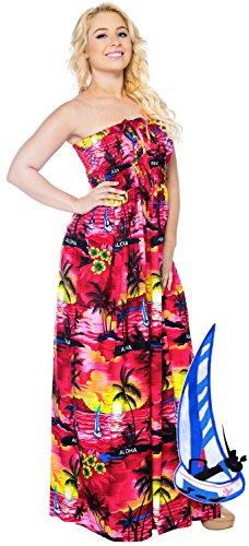 Sera Costume Maxi Donne Leela Da Pannello Coprire Rosa v649 Esterno Beachwear Lungo Bagno Superiore Capestro Tubo Del La Abito SqC6ywaq4