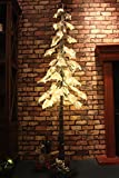Fashionlite 240 LED Hang Down Snow Tree with Foam Sponge Snow covered, 6Ft,Warm White