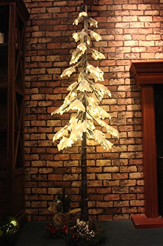 Fashionlite 240 LED Hang Down Snow Tree with Foam Sponge Snow covered, 6Ft,Warm White by Fashionlite