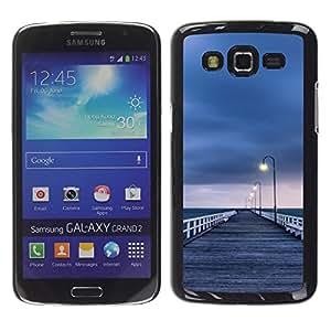 """Pulsar Snap-on Series Teléfono Carcasa Funda Case Caso para Samsung Galaxy Grand 2 II , Mar de Lonely gris Pier Sad"""""""