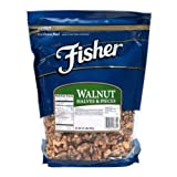 Fisher Chefs Naturals Halve and Piece Walnut, 2 Pound - 3 per case.