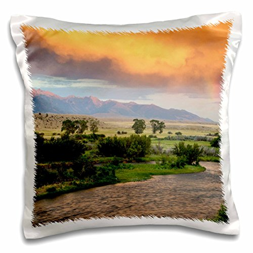 Danita Delimont - Montana - Madison River at sunset, Ennis, Montana, USA - US27 CHA2801 - Chuck Haney - 16x16 inch Pillow Case (pc_144856_1) (Ennis Bed Set)