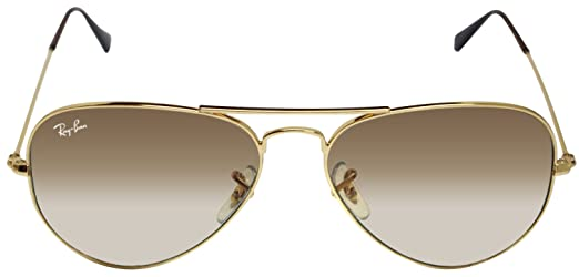 ray ban unisex rb3025 55mm sunglasses  New Ray Ban RB3025 001/51 Aviator Gold/Brown Gradient Lens 55mm ...