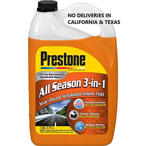 : Prestone AS658-6PK Deluxe 3-in-1 Windshield Washer Fluid, 1 Gallon (Pack of 6)
