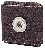 Merit 3'' X 3'' X 1/4'' X 1/4'' - 20 80 Grit Medium Grade Aluminum Oxide Resin Bond Square Pad