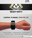 M BRACE RCA - HEAVY DUTY - Carpal Tunnel Treatment Wrist Support (Large, Black)