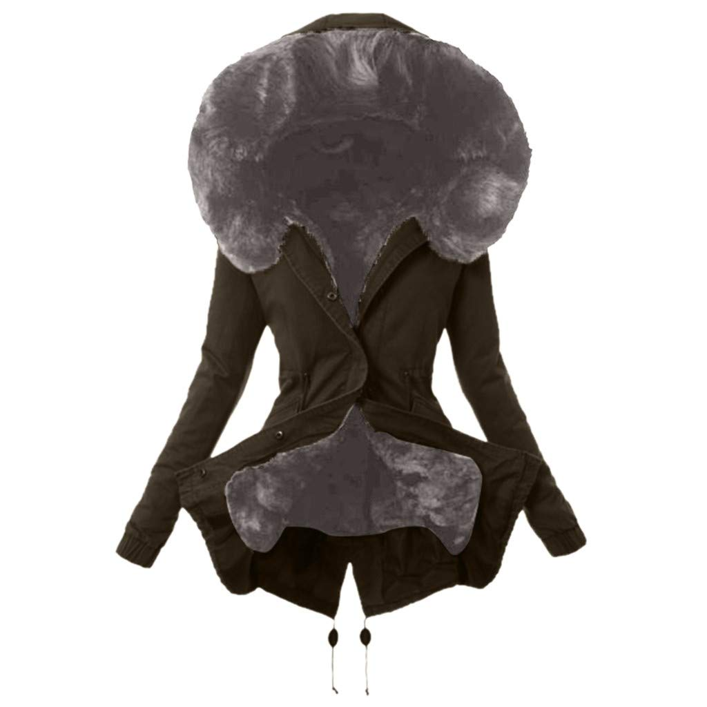 Riou Cappotto Donna Elegante Fodera in Lana Giacca Donna Invernale Caldo Spessa Cappotti Donna Invernali Eleganti Giubbotto di Cotone Donna Invernale Elegante