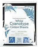 8.5'' x 11'' Cyanotype White Cotton (10 pack)