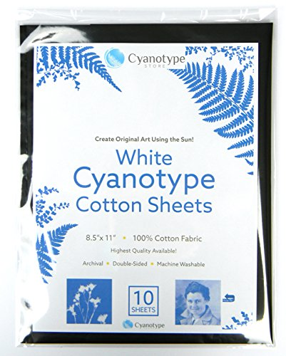 8.5'' x 11'' Cyanotype White Cotton (10 pack) by Cyanotype Store