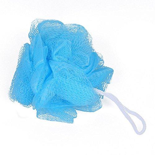 (2 Pcs Blue Mesh Soft Bath Sponge Body Pouf Shower Loop Scrubber)