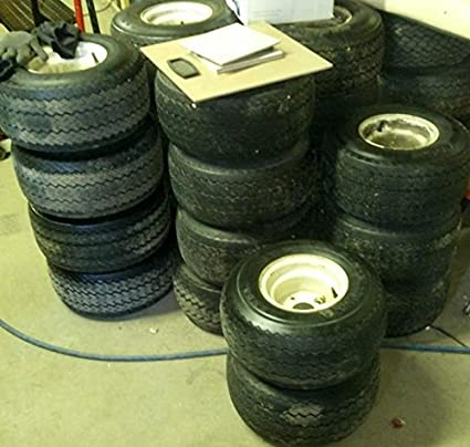 Amazon Com 4 Used Golf Tires And Rims 18 X 8 5 X 8 Home And