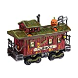 Halloween Snow Village from Department 56 Haunted Rails Caboose