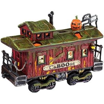 department 56 snow village halloween haunted rails caboose