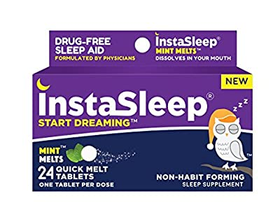 Instasleep Mint Melts: Quick Melt Drug Free Sleep Aid Formulated By Physicians, Great Tasting and Fast Acting