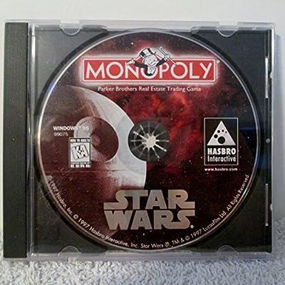 1997 Lucasfilm Ltd. Hasbro Interactive Hasbro Star Wars Monopoly Cd-rom Pc Software #99075 for Windows 95 Cd-rom