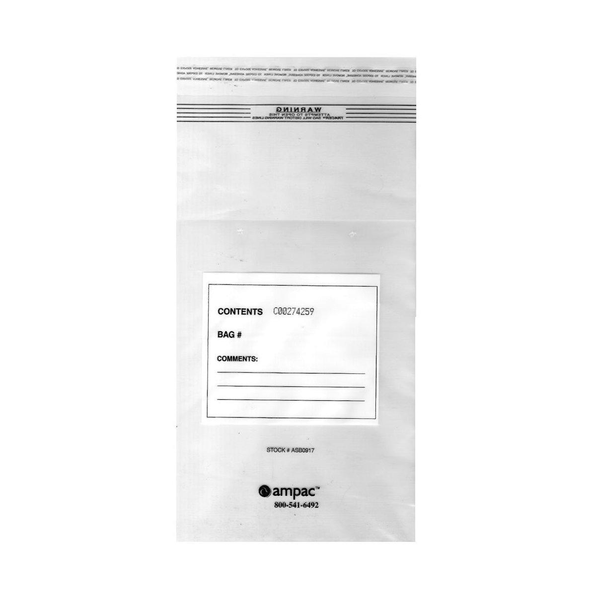 ASB0917, KeepSafe Secure, 25 Pound Tamper-Evident Coin Hopper Fill Bag Case of 500