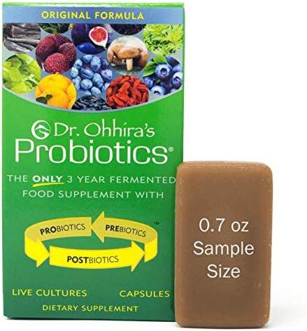 Dr. Ohhira s Probiotics Original Formula 30 Caps with Bonus Probiotic-Enhanced Beauty Bar Soap Travel Size 20g