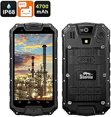 Snopow M5P Rugged Phone Dual SIM 4G IP68 Walkie-Talkie 4700mAh ...