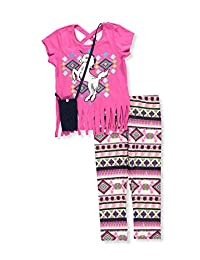 RMLA Girls' 2-Piece Pants Set Outfit with Purse