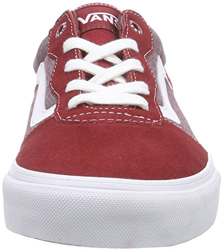 VansM MILTON CHAMBRAY - Zapatillas hombre rojo - Rot ((Chambray) biking red/white)