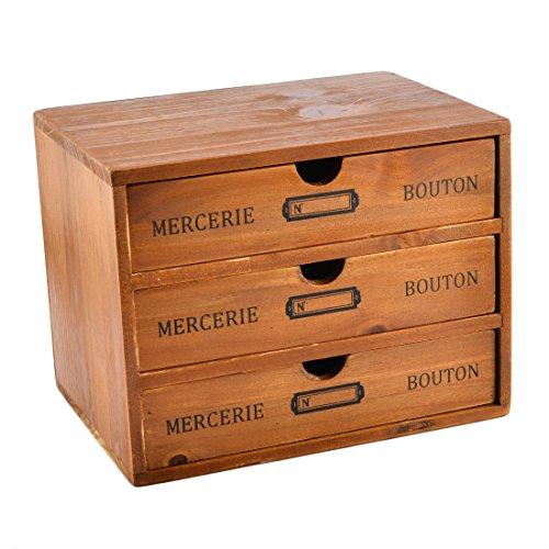 Pine Set China Cabinet (Storage Chest Box,Hmane New Zealand Pine Wooden Storage Chest Box for Office Desktop Organizer(3-Drawer))