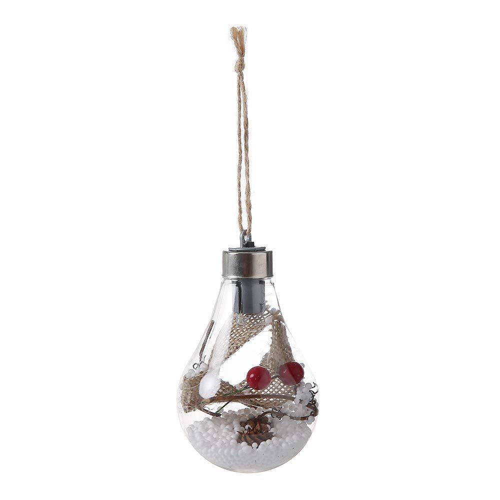 Xmas Tree Lamp,JDgoods Waterproof Hanging LED Bulb Christmas Tree Decoration Lamp Home Bedroom Night Light (B)