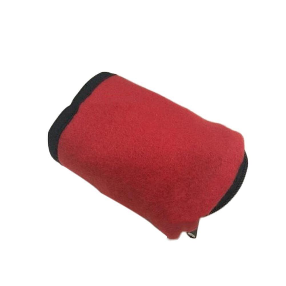 beige cartera para llaves bolsas multifunci/ón de brazo mu/ñeca con cremallera RUNGAO