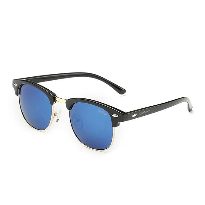 CGID MJ56 Clubmaster clubma Retro Vintage Sonnenbrille im angesagte 60er Browline-Style mit markantem Halbrahmen Sonnenbrille,Glänzend Schwarz-Grün
