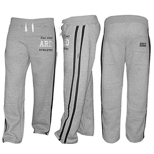 ARD-Champs Men's Fleece Jogger Pant Sweatpant Track Suit Bottom Jogging Exercise Fitness Boxing MMA Gym Sweat Cotton Fleece Trousers (Grey, Medium) (Tracksuit Logo)