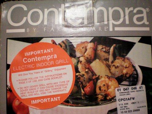 Contempra by Farberware Indoor Electric Personal Grill Model