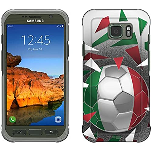 Samsung Galaxy S7 Active Case, Snap On Cover by Trek Soccer Ball Italy Flag Slim Case Sales