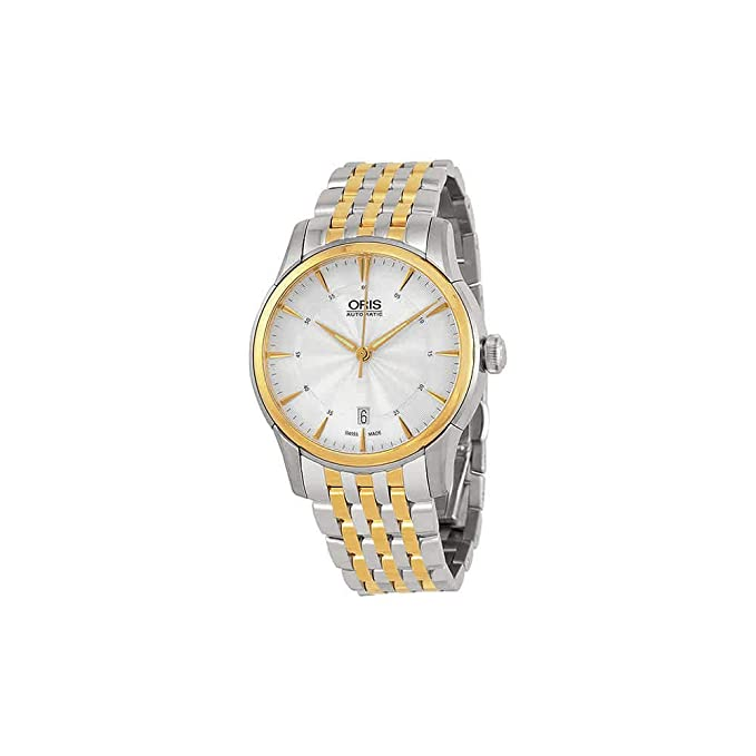 Amazon.com: Oris Artelier Date Silver Dial Two-Tone Stainless Steel Mens Watch 01 733 7670 4351-07 8 21 78: Oris: Watches