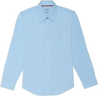 French Toast Big Boys' Long Sleeve Poplin Dress Shirt French Toast Boys 8-20 Uniforms SE9004