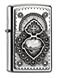 Zippo ''Mexican Heart'' Polished Chrome Emblem Lighter
